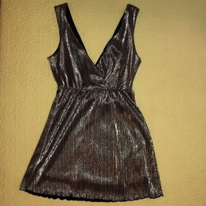 Forever 21 Metallic Party Dress